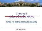 Bài giảng Cơ sở lập trình 1: Chương 5 - Lê Quý Tài