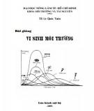 Bài giảng Vi sinh môi trường: Phần 2 - TS. Lê Quốc Tuấn