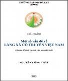 Giáo trình Một số vấn đề về làng xã cổ truyền Việt Nam (Chuyên đề dành cho sinh viên ngành Lịch sử): Phần 2