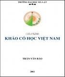 Giáo trình Khảo cổ học Việt Nam: Phần 1