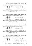 Đề kiểm tra 15 phút, chương 1 môn: Giải tích 11