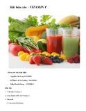 Bài báo cáo: Vitamin C