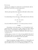 Ôn thi văn toán tuổi thơ (Có đáp án)