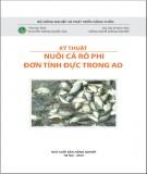 Ebook Kỹ thuật nuôi cá rô phi đơn tính đực trong ao