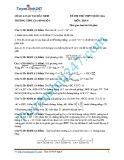Đề thi thử THPT quốc gia có đáp án môn: Toán - Trường THPT Gia Bình số 1