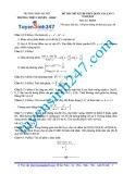 Đề thi thử kỳ thi THPT quốc gia, lần 3 năm 2015 có đáp án môn: Toán - Trường THPT chuyên sư phạm Hà Nội