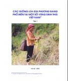 Ebook Các giống lúa địa phương đang phổ biến tại một số vùng sinh thái Việt Nam - Tập 1