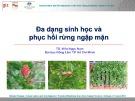 Bài giảng Đa dạng sinh học và phục hồi rừng ngập mặn - TS. Viên Ngọc Nam