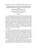 Đề tài: Ảnh hưởng của thức ăn TMR đối với đàn bò cạn sữa tại Ba Vì