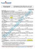 Đề thi khảo sát chất lượng lớp 12, lần I năm 2015 - Mã đề thi 485