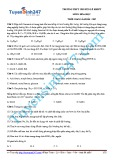 Đề thi môn Hóa học - Trường THPT chuyên Lê Khiết