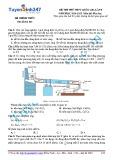 Đề thi thử THPT Quốc gia lần 1 (năm học 2014-2015) môn thi Hóa học - Mã đề thi 001