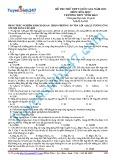 Đề thi thử THPT Quốc gia năm 2015 môn Hóa học - Mã đề thi 683