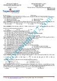Đề thi thử khối 12 lần 1 (năm học 2014-2015) môn Vật lý - Mã đề thi 111