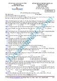 Đề thi thử kì thi THPT Quốc gia (năm học 2014-2015) môn Hóa học - Mã đề thi 132