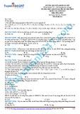 Đề thi thử chuẩn bị cho kì thi THPT Quốc gia năm 2015 môn Hóa học - Mã đề thi 213