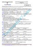 Đề thi thử THPT Quốc gia lần thứ 3 môn Hóa học - Mã đề thi 132