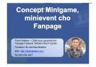 Concept minigame, minievent cho fanpage