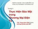 Bài giảng Thương mại điện tử: Chương 6 - ThS. Phạm Đình Sắc