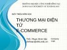 Bài giảng Thương mại điện tử: Chương 0 - ThS. Phạm Đình Sắc