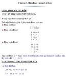 Bài giảng Toán rời rạc và lý thuyết đồ thị - Chương 3: Hàm Bool và mạch tổ hợp