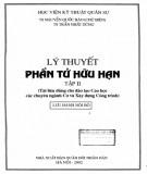 Ebook Lý thuyết phần tử hữu hạn (Tập 2): Phần 2 - TS. Nguyễn Quốc Bảo (chủ biên)