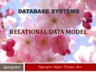 Lecture Database systems: Relational Data Model (1) – Nguyễn Ngọc Thiên An