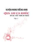 Ebook Luyện nghe tiếng Anh qua 100 ca khúc được yêu thích nhất - Tập 2
