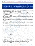 Xác định tên nguyên tố theo định luật tuần hoàn: Bài tập tự luyện Hóa học 10 - Đề số 1