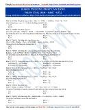 Phương pháp cân bằng phản ứng oxi hóa khử: Hóa học 10 - Đề 2