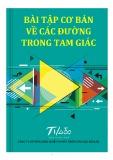Ebook Bài tập cơ bản về các đường trong tam giác