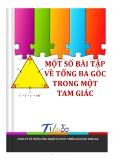 Bài tập về tổng ba góc trong một tam giác