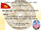Bài thuyết trình: Con đường, biện pháp quá độ lên chủ nghĩa xã hội ở Việt Nam