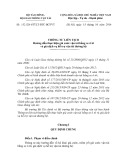 Thông tư liên tịch số: 152/2014/TTLT-BTC-BGTVT