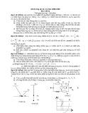 Đề thi học sinh giỏi lớp 12 có đáp án môn: Vật lý (Năm học 1998-1999)