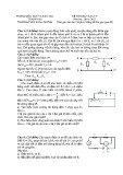 Đề thi học sinh giỏi có đáp án môn: Vật lý 9 - Trường THCS Xuân Dương (Năm học 2014-2015)