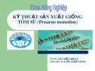 Bài thuyết trình: Kỹ thuật sản xuất giống tôm sú - Penaeus monodon