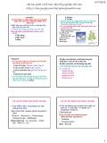 Bài giảng Thuốc bảo vệ thực vật (Phần A: Những hiểu biết chung về thuốc bảo vệ thực vật, quản lý và sử dụng) - Chương 2: Cơ sở sinh lý, sinh thái học của thuốc bảo vệ thực vật trong phòng trừ dịch hại