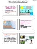 Bài giảng Thuốc bảo vệ thực vật (Phần A: Những hiểu biết chung về thuốc bảo vệ thực vật, quản lý và sử dụng) - Chương 3: Thuốc bảo vệ thực vật, môi trường và hậu quả xấu của chúng gây ra cho môi sinh