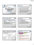 Bài giảng môn học Kế toán tài chính - Chương 3: Kế toán hàng tồn kho