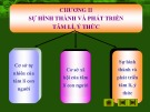 Bài giảng Tâm lý học - Chương 2: Sự hình thành và phát triển của tâm lý, ý thức (p3)