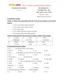 Đề thi học kỳ 1 có đáp án môn: Tiếng Anh 8 - Sở Giáo dục và Đào tạo Thanh Hóa (Năm học 2015-2016)