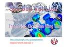 Bài giảng Sức bền vật liệu: Chương 3 - Trang Tấn Triển
