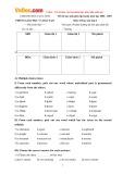 Đề thi học sinh giỏi cấp huyện Cao Lãnh có đáp án môn: Tiếng Anh - Lớp 8 (Năm học 2006-2007)