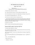 Đề thi kiểm tra giữa học kì 1 có đáp án môn: Ngữ văn 8
