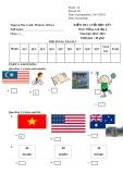Đề kiểm tra cuối học kỳ 1 môn: Tiếng Anh - Lớp 4 (Năm học 2015-2016)