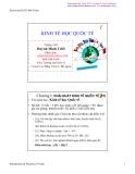 Bài giảng Kinh tế học quốc tế: Chương 1 - Huỳnh Minh Triết