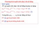 Bài giảng môn Giải tích 1 - Chương 4: Phương trình vi phân (p2)