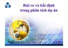 Bài giảng Lập và phân tích dự án: Chương 8 - ThS. Hà Văn Hiệp