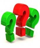 Bài tập trắc nghiệm có đáp án môn: Quản trị học đại cương - Chương 1